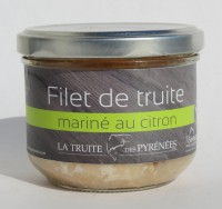 Filet de truite mariné au citron
